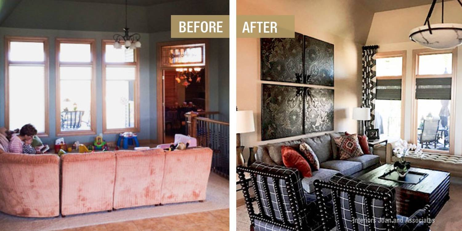 Before and After Living Room Refresh