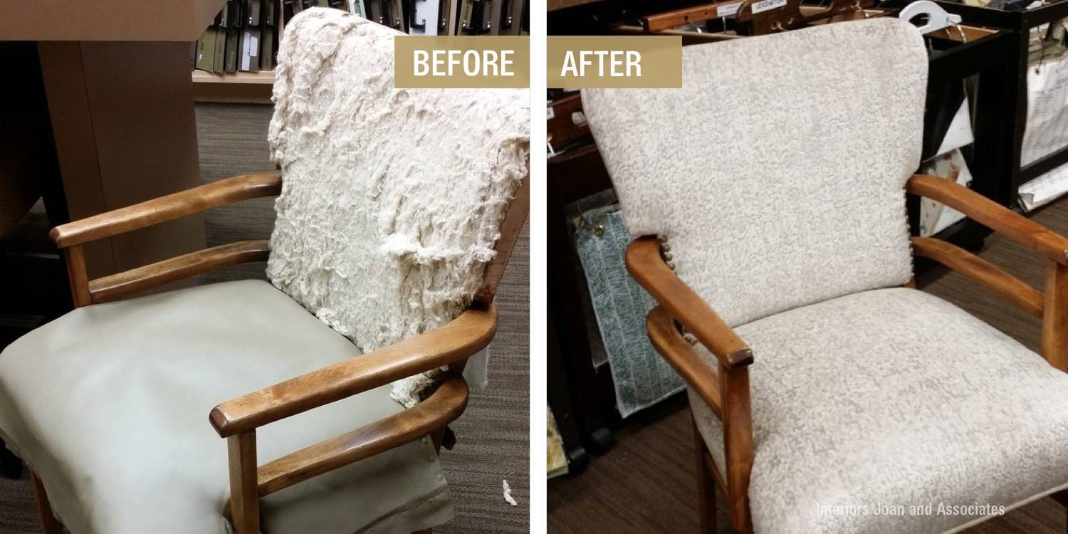 Before and After Mid Century Modern Chair